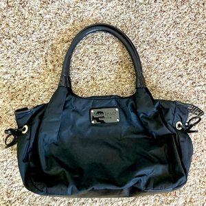 KATE SPADE black nylon leather bag multipurpose chic
